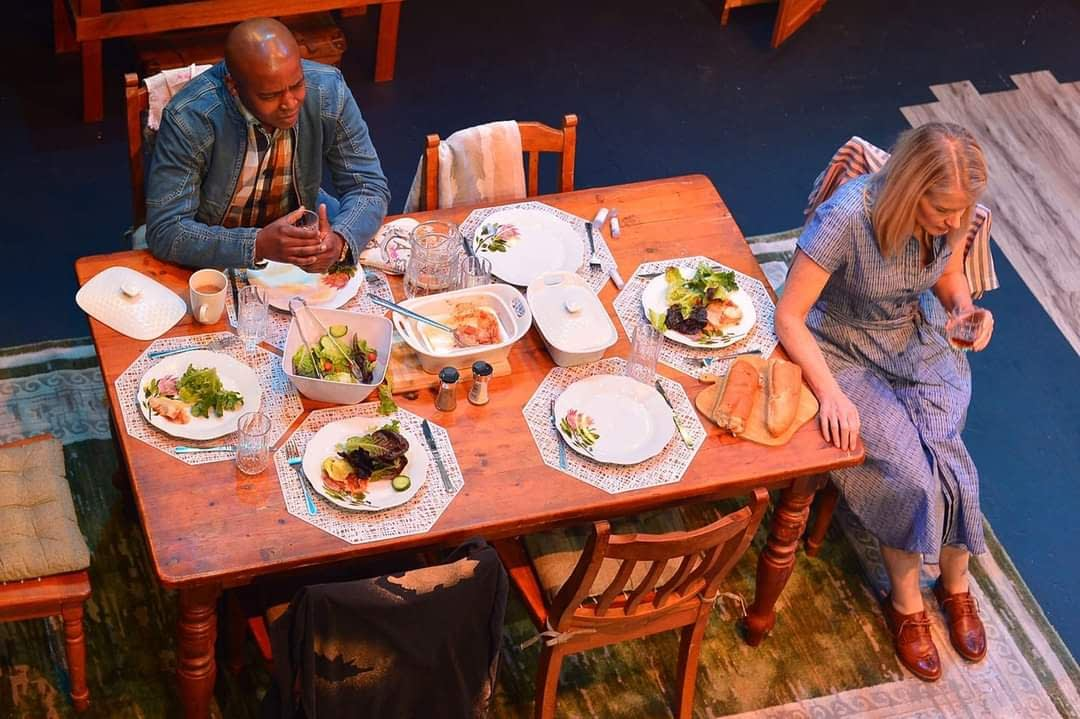 Loyiso McDonala and Michelle Douglas feature in Dusk by Mark Scheepers at The Market Theatre (Photos by Lungelo Mbulwana)