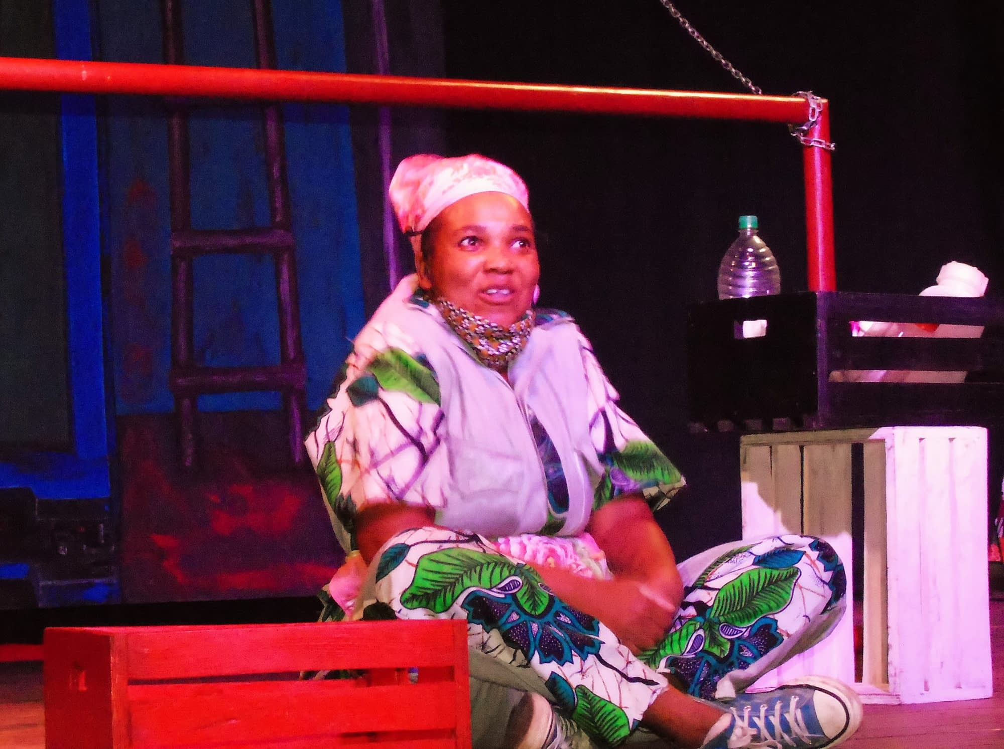 Charity Dlodlo performs One an Actress at Madsoc Theatre in Malawi (Photos by Michael Mambo)