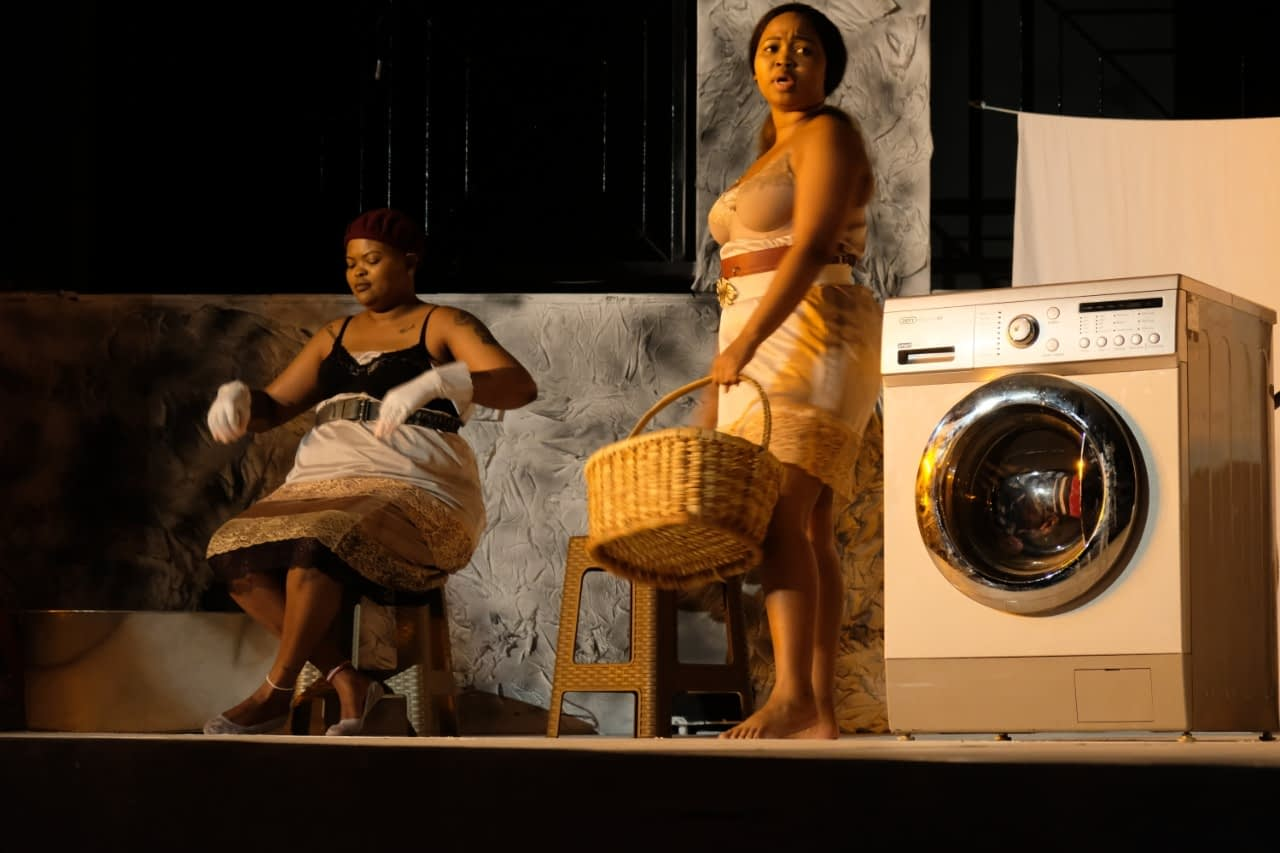Khutjo Green's The Princesses of Askies Shem Street at the Tin Town Theatre (NPC) (Photos by Tin Town Theatre)