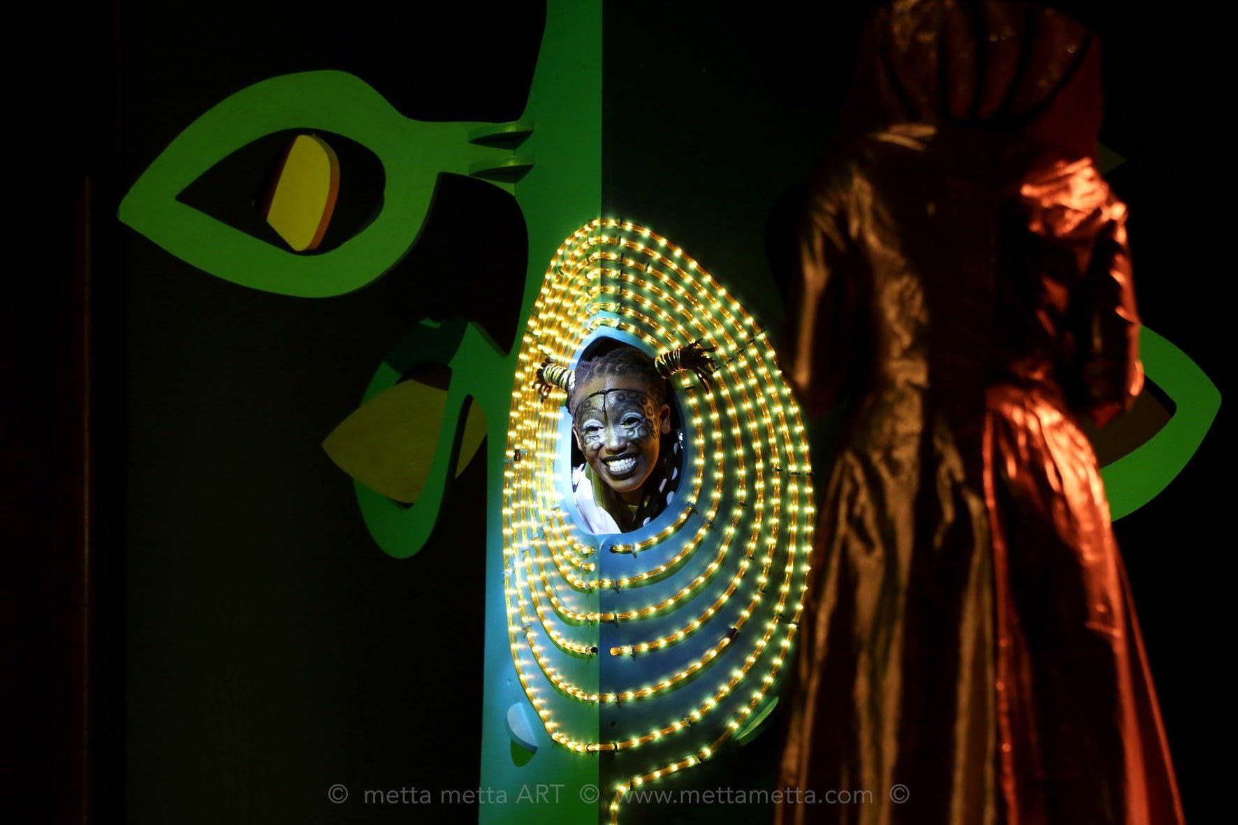 Nyokabi Macharia, the Giraffe in Tinga Tinga the Musical ( Photo courtesy: Metta Metta Art)