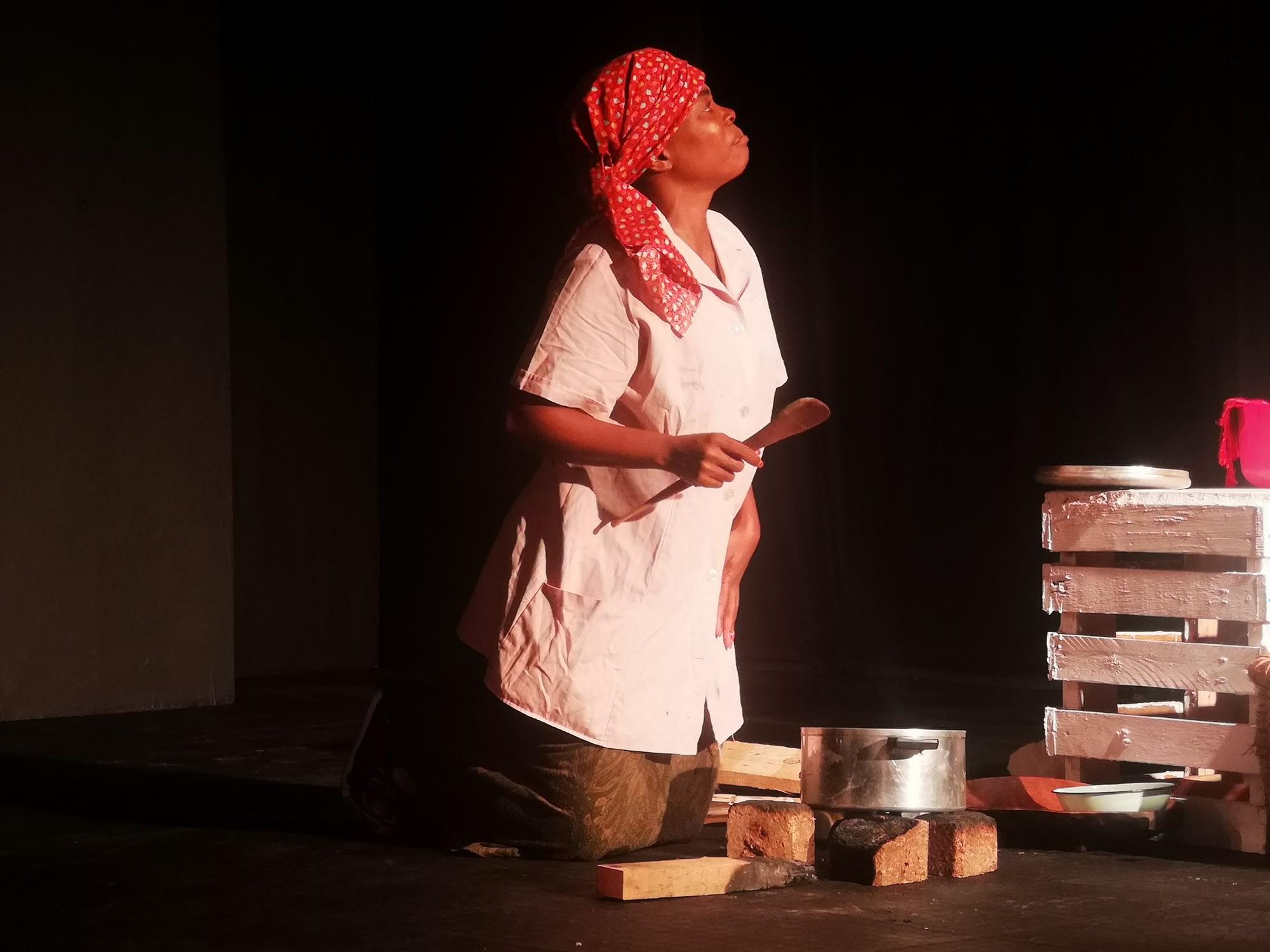 Lerumo written and directed by Malaika Ntsoeu at Kuwamba Women's Theatre Festival at the TX Theatre in Tembisa (Sthembiso Radebe and Thokozani Maseko)