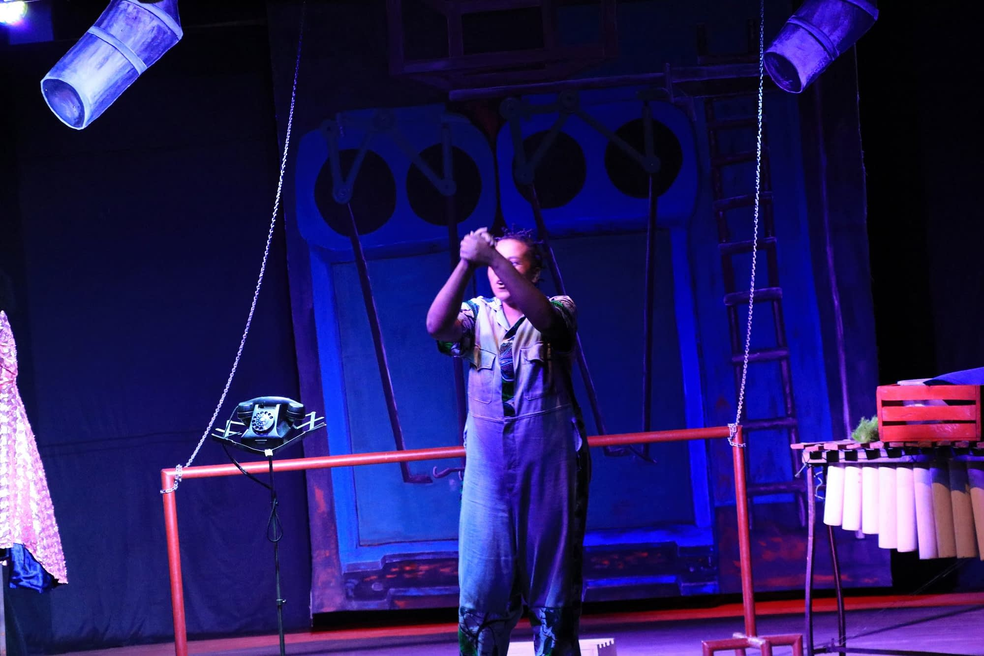 Zimbabwean actress Charity Dlodlo in Once Actress at Madsoc Theatre in Lilongwe, Malawi (Photo by Michael Mambo)