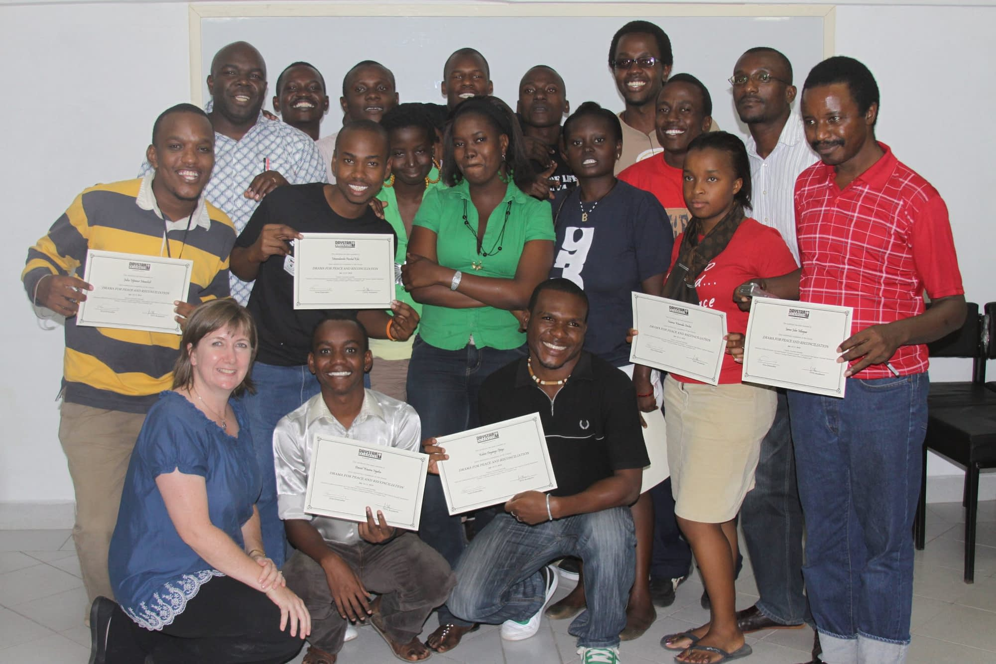 Dr. Julisa Rowe with Drama for Peace and Reconciliation trainees