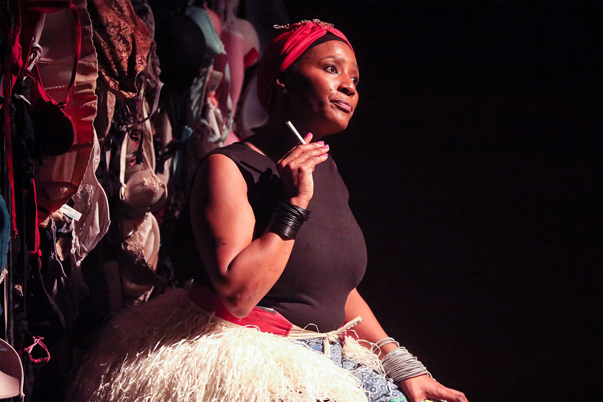 Napo Masheane performs her My Vagina Was Not Buried With Him directed by directed by Clive Mathibe