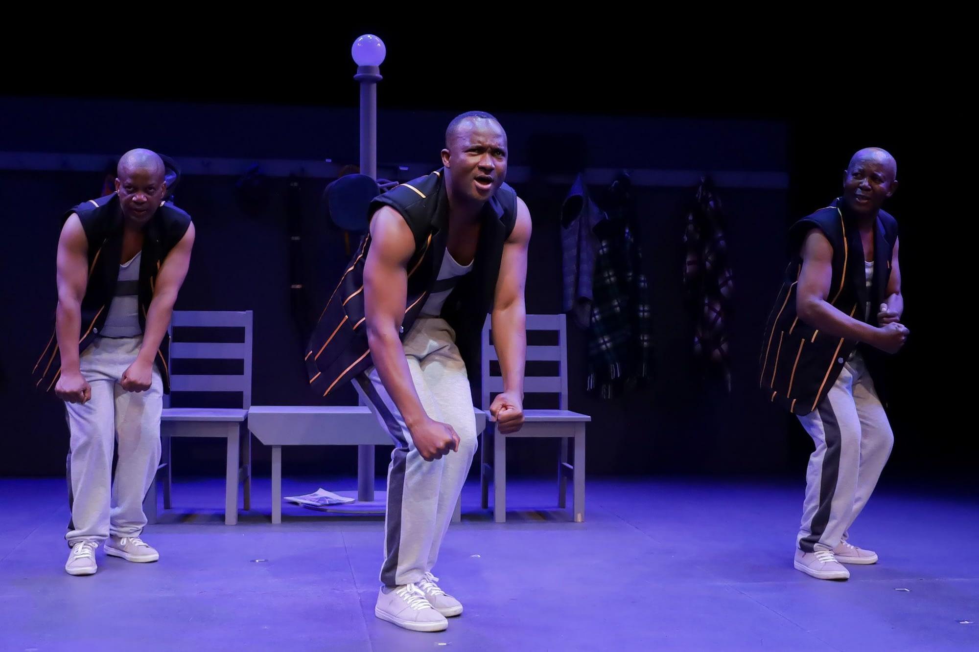 Bopha! featured Percy Mtwa, Tshallo Chokwe and Terrence Ngwila (Photos by Mpilo Zondi)